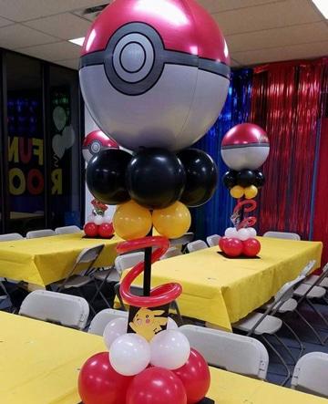 cumpleaños tematico pokemon globos