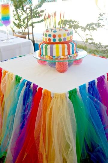 decoracion con telas para fiestas infantiles de tul