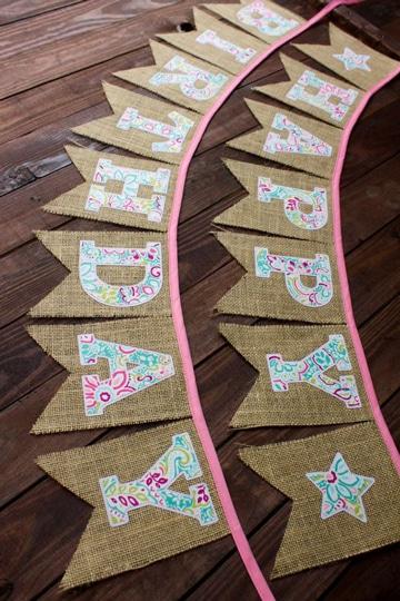 decoracion con telas para fiestas infantiles guirnalda