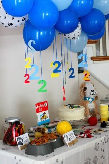 decoracion de globos en el techo cumpleaños
