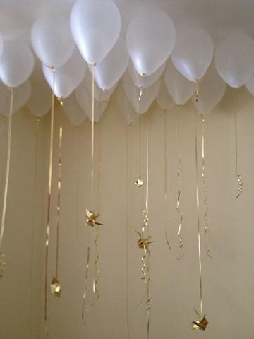 decoracion de globos para bautizo de niño super facil