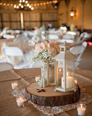 decoracion matrimonio campestre con velas