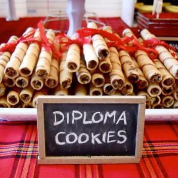 decoracion para graduacion de preescolar diploma chocolate