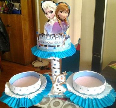dulceros de frozen para fiesta infantil con personajes