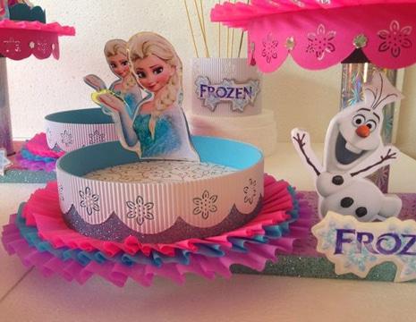 dulceros de frozen para fiesta infantil sencillo