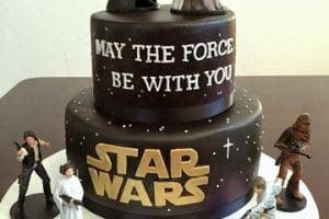 Decoracion para tematica de fiesta de star wars para niños
