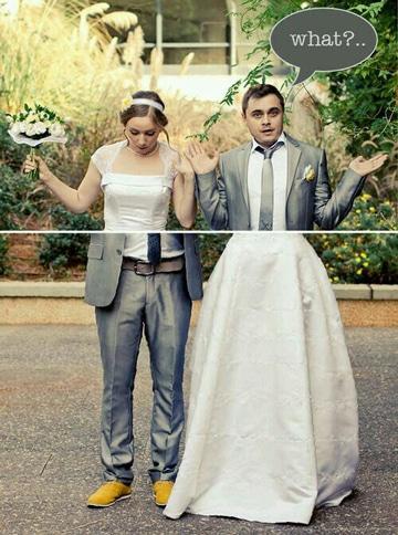 fotos divertidas de parejas ropa
