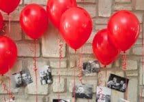 La originalidad de los adornos de globos con fotos colgando