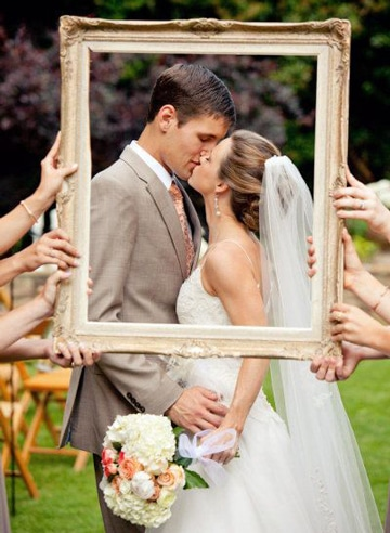 ideas photocall boda cuadro