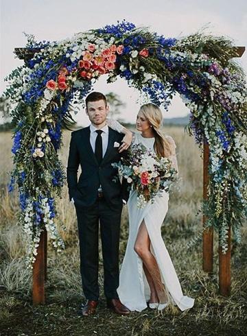 ideas photocall boda floral