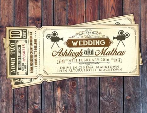 imagenes de recuerdos de boda tematica cine