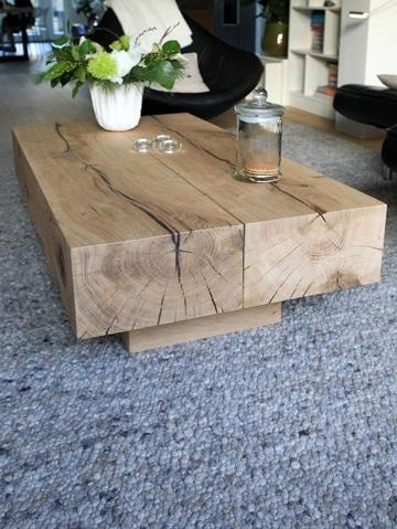 mesas rusticas de troncos de madera