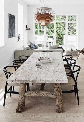 mesas rusticas de troncos para comedor