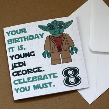 tarjetas de cumpleaños star wars facil