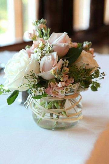 adornos de mesa para boda con rosas
