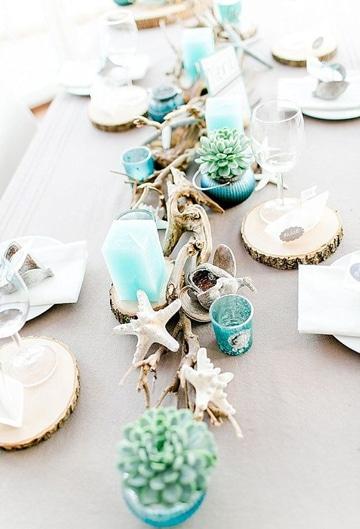 adornos de mesa para boda playera