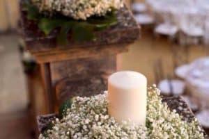 Hermosos arreglos florales para primera comunion