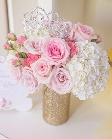 arreglos florales para quinceañeras con diadema