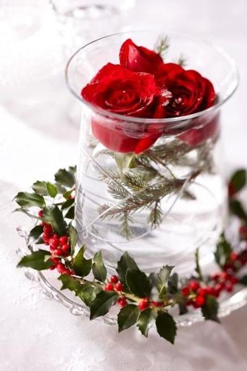 centros de mesa con rosas rojas para enamorar
