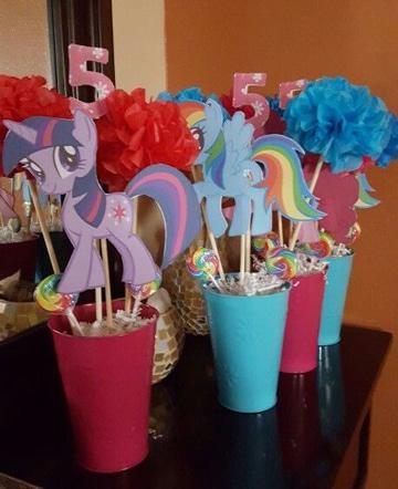centros de mesa de unicornios para cumpleaños