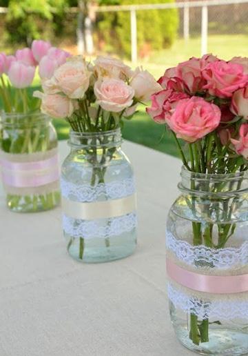 centros de mesa para boda civil de dia
