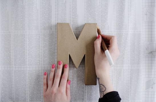 como hacer letras en carton tutorial