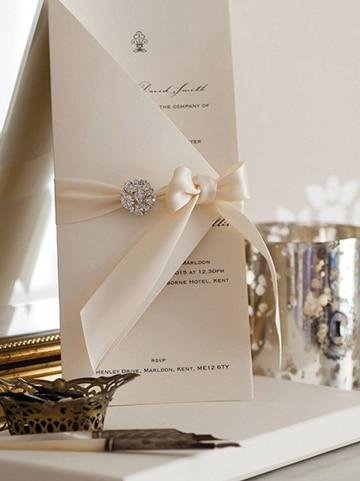 como hacer tarjetas de boda elegante