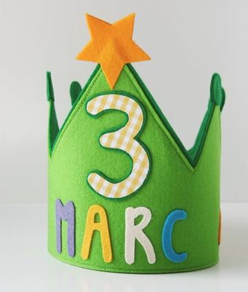 coronas de rey para niños con nombre