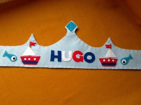 coronas de rey para niños personalizada