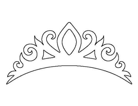 coronas faciles de dibujar de princesa