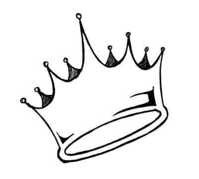coronas faciles de dibujar de rey