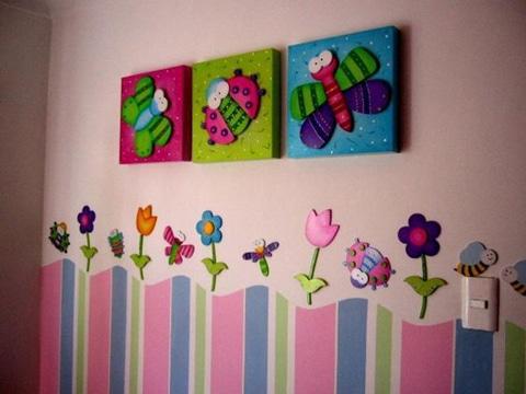 cuadros para habitacion de bebe niña
