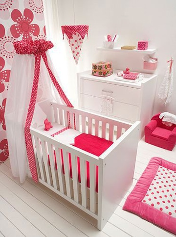 Una adecuada decoracion para cuartos de bebes recien for Cuartos de nina recien nacida