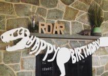 Una original decoracion de fiesta de dinosaurios