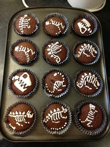 decoracion de fiesta de dinosaurios cupcake