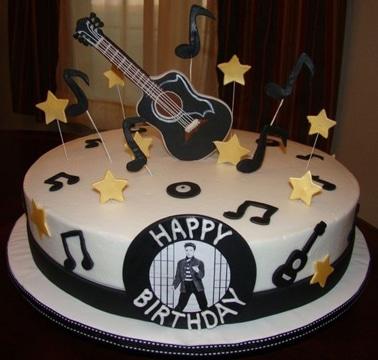 diseños de tortas para hombres musicos