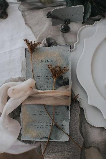 ejemplos de menus para bodas bohemias