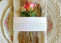 Elegantes y únicos ejemplos de menus para bodas