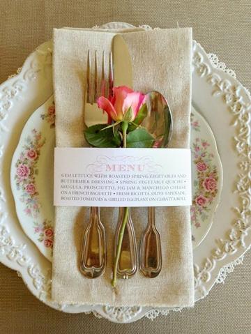 ejemplos de menus para bodas romantico