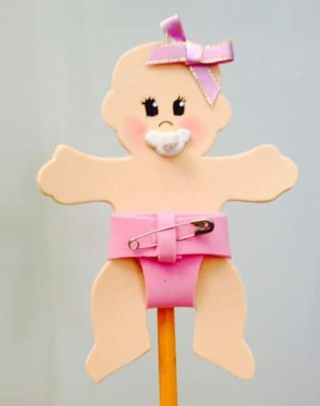 figuras de fomi para baby shower de niña