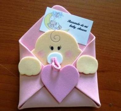 figuras de fomi para baby shower recuerdos