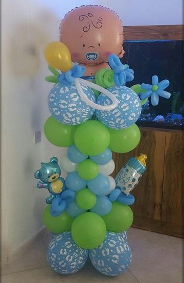 figuras de globos para baby shower para varon
