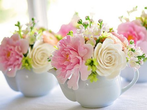 flores para centros de mesa pequeños