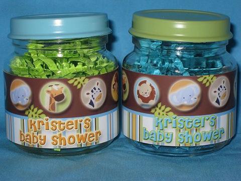 frascos de compotas decorados baby shower