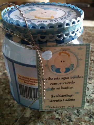 frascos de compotas decorados bautizo