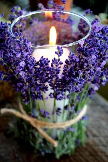 frascos de vidrio decorados para velas