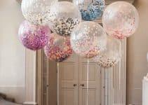 La creatividad y el uso de globos transparentes decorados