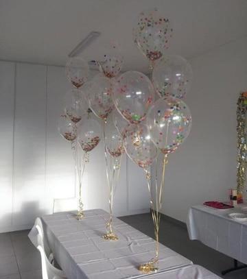 globos transparentes decorados para mesas