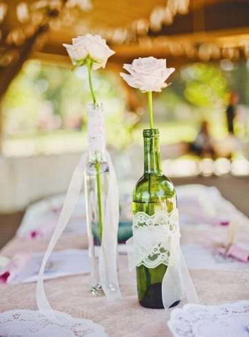 ideas para bodas economicas con botellas