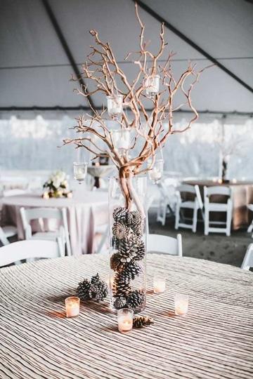 ideas para bodas economicas con ramas